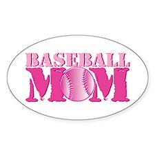 Baseball Mom pink Decal