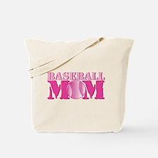 Baseball Mom pink Tote Bag