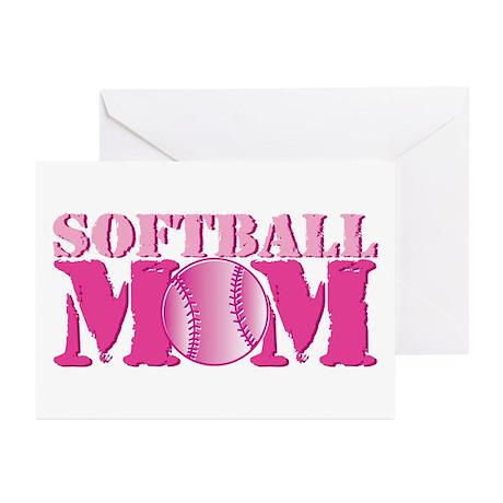 Softball Mom pink Greeting Cards (Pk of 10)