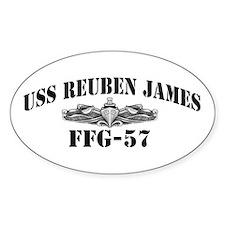 USS REUBEN JAMES Oval Decal