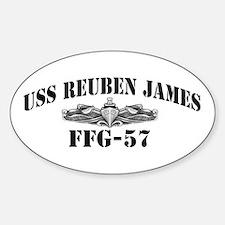 USS REUBEN JAMES Sticker (Oval)