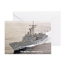 USS REUBEN JAMES Greeting Card