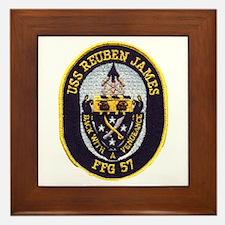 USS REUBEN JAMES Framed Tile