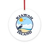 Kiawah island Round Ornaments