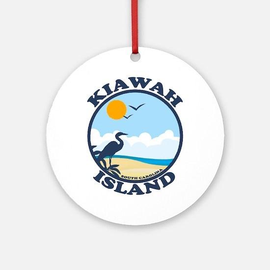Kiawah Island SC - Beach Design Ornament (Round)