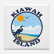 Kiawah Island SC - Beach Design Tile Coaster