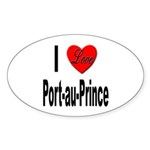 I Love Port-au-Prince Haiti Oval Sticker (10 pk)