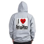 I Love Port-au-Prince Haiti (Back) Zip Hoodie