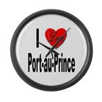 I Love Port-au-Prince Haiti Large Wall Clock