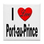 I Love Port-au-Prince Haiti Tile Coaster