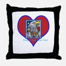 Patriotic Eagle: Dream High! Throw Pillow