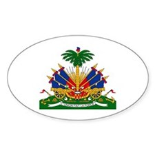 Haiti Coat of Arms Oval Decal