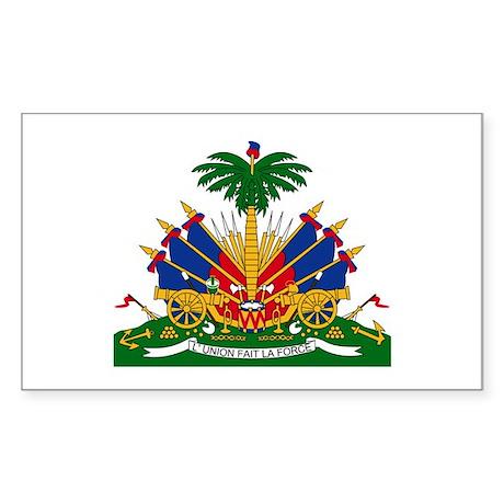 Haiti Coat of Arms Rectangle Sticker