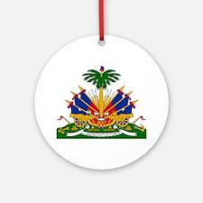 Haiti Coat of Arms Ornament (Round)