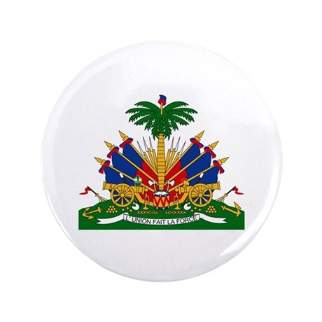 "Haiti Coat of Arms 3.5"" Button"