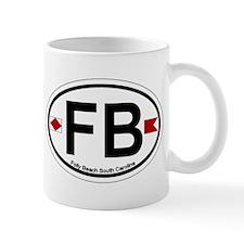 Folly Beach - Oval Design Mug