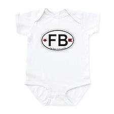Folly Beach - Oval Design Infant Bodysuit