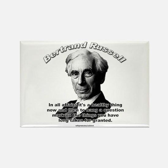 Bertrand Russell 01 Rectangle Magnet