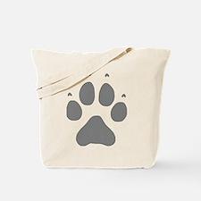 Wolf Paw Print Tote Bag