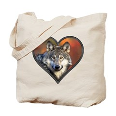 Wolf Heart Tote Bag
