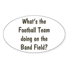 Band Geek Oval Decal