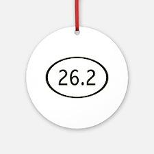 26.2 Miles Ornament (Round)