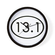 13.1 Miles Wall Clock