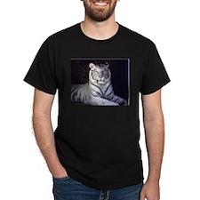 White Tiger Black T-Shirt
