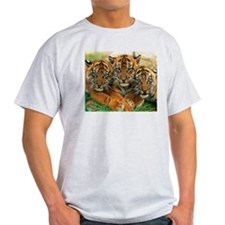 Bengal Tiger Ash Grey T-Shirt