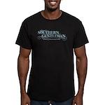 Southern Gentleman Men's Fitted T-Shirt (dark)