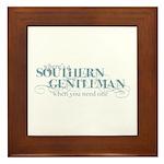 Southern Gentleman Framed Tile