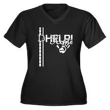 D-Lip Haiti T-Shirt(Wmn's Plus Size V-Neck Dark)