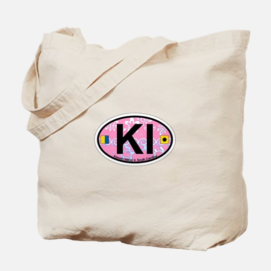 Kiawah Island SC - Oval Design Tote Bag
