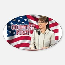 Country First Oval Decal