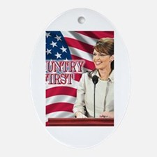 Country First Oval Ornament