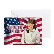 Country First Greeting Card
