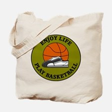 Enjoy Life Play Basketball Tote Bag