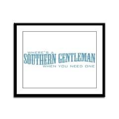 Southern Gent Framed Panel Print