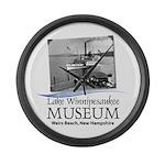 Lake Winnipesaukee Museum Logo Large Wall Clock