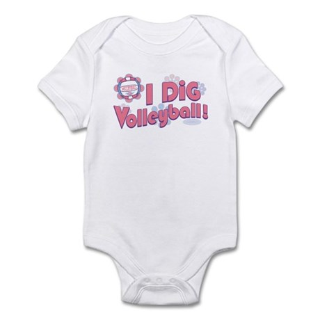 I Dig Volleyball Infant Bodysuit
