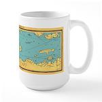 Panoramic 1911 Lake Winnipesaukee Map Large Mug