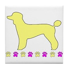 Poodle Paws Tile Coaster