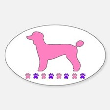 Poodle Paws Oval Decal