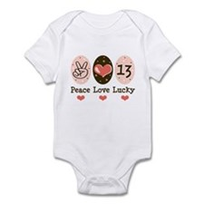 Peace Love Lucky 13 Infant Bodysuit