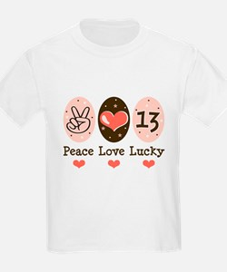 Peace Love Lucky 13 T-Shirt