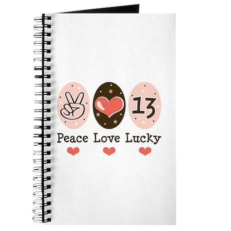 Peace Love Lucky 13 Journal