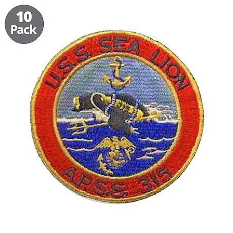 "USS SEALION 3.5"" Button (10 pack)"