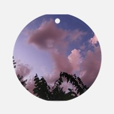 Pink Clouds Ornament (Round)