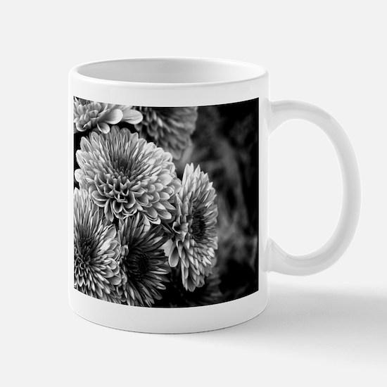 Grayscale Mums Mug