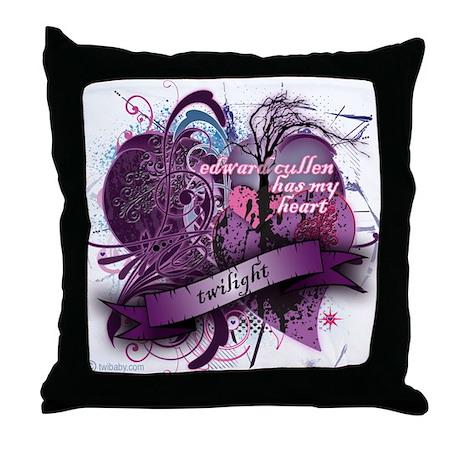 Edward Cullen Has My Heart Throw Pillow